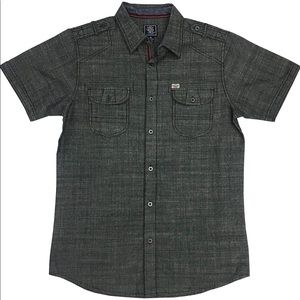 Black Jack Clothing Young Mens Slub Chambray Shirt